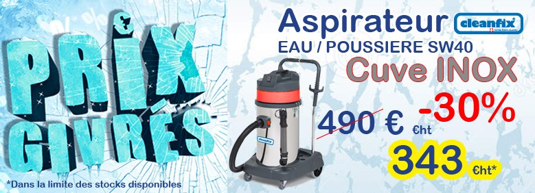 Promotion cleanfix aspirateur