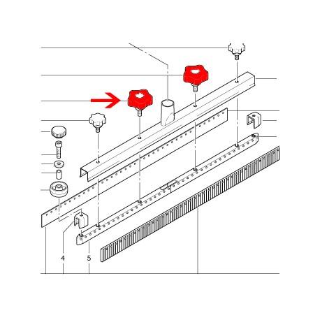 Molette de serrage suceur droit Cleanfix