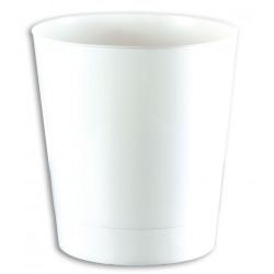 Poubelle sanitaire ovale 11L blanche