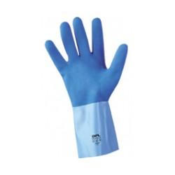 Gant LATEX bleu adhérisée jersey coton