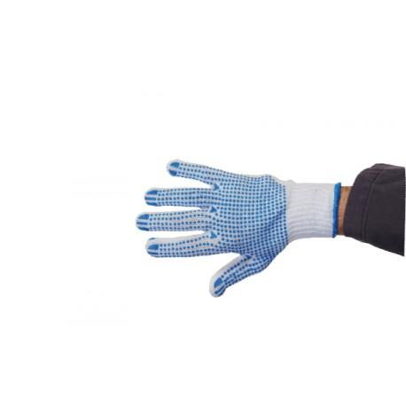 Gant tricoté avec picots 2 faces