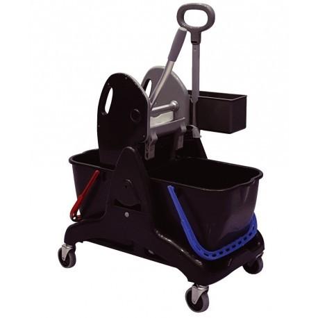Chariot de lavage + bac produit + presse machoires