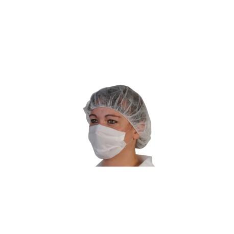 Masque papier blanc 2 plis X100