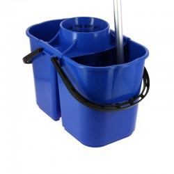 Seau 15 litres bleu séparation/essoreur