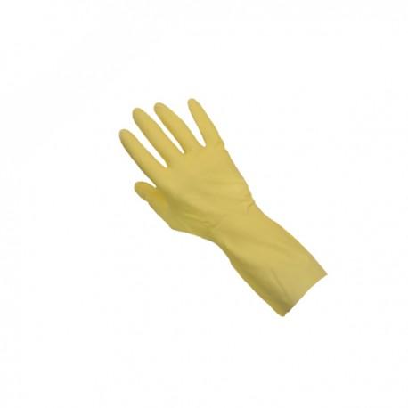 Gant de ménage jaune floqué coton