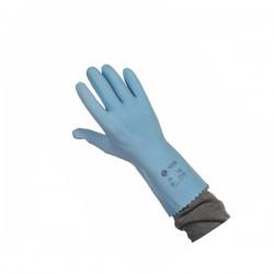 Gant ménage LATEX bleu jersey coton