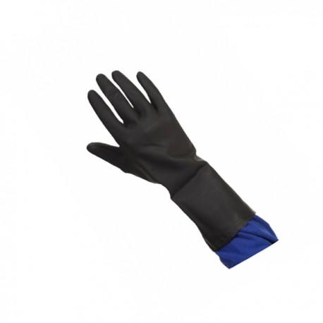 Gant néoprène noir flocké coton