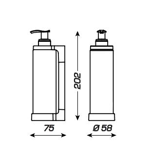 Distributeur savon isiss jvd