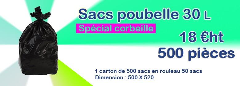 Promo sacs poubelle 30 litres